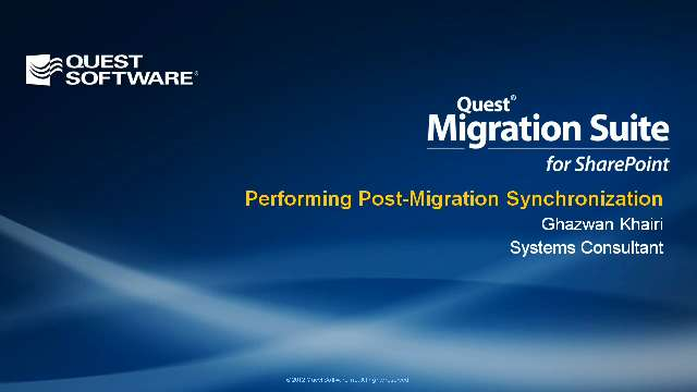 Performing Post-Migration Synchronization with Migration Suite for SharePoint