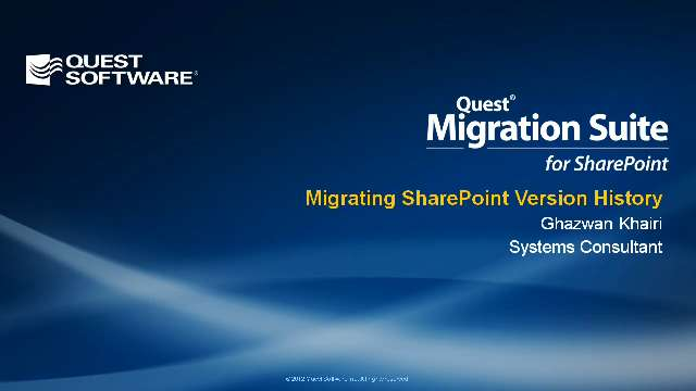 Migrating SharePoint Version History with Migration Suite for SharePoint