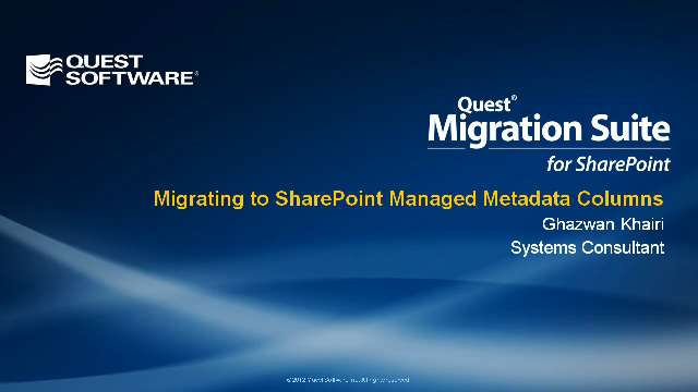 Migrating to SharePoint Managed Metadata Columns with Migration Suite for SharePoint