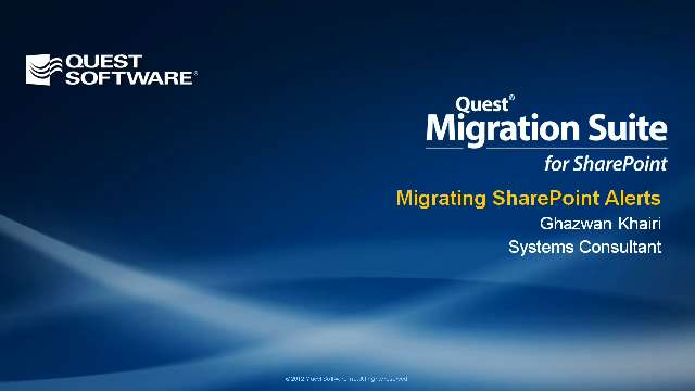 Migrating SharePoint Alerts with Migration Suite for SharePoint
