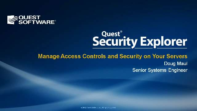 Manage Access Controls and Security on Your Servers with Security Explorer