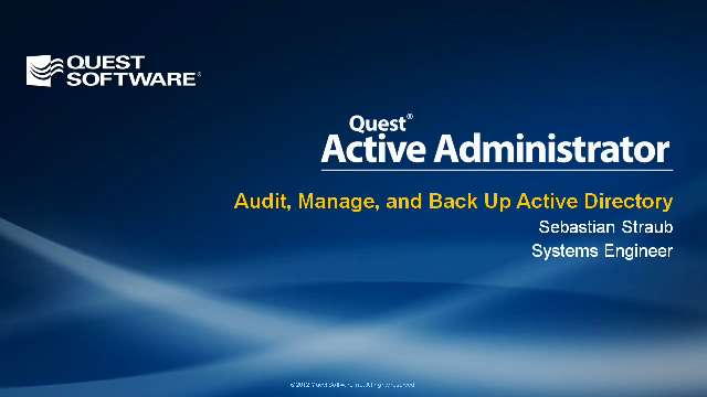 Audit, Manage, and Back Up Active Directory with Active Administrator 6