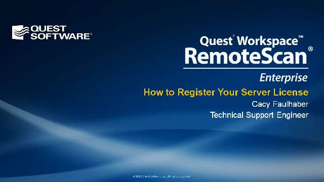 How to Register a RemoteScan Server License
