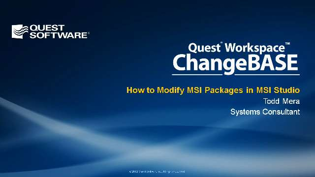 How to Modify MSI Packages in MSI Studio Using ChangeBASE