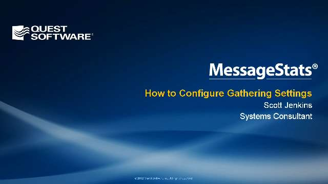 How to Configure MessageStats Gathering Settings