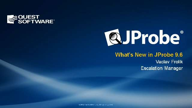 What's New in JProbe 9.6