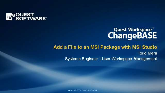Add a File to an MSI Package with MSI Studio