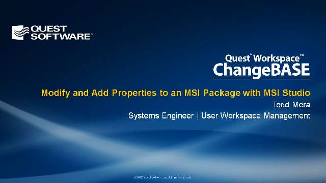 Modify and Add Properties to an MSI Package with MSI Studio