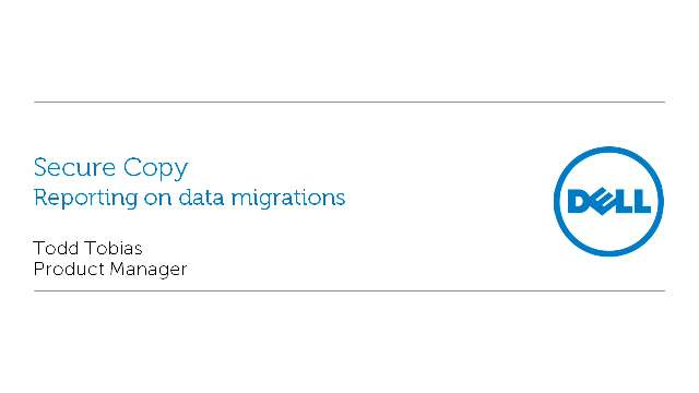 Reporting on Data Migrations with Secure Copy