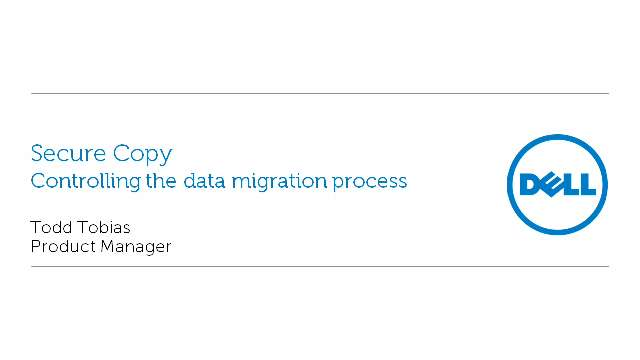 Controlling the Data Migration Process with Secure Copy