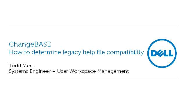 How to determine legacy help file compatability with ChangeBASE