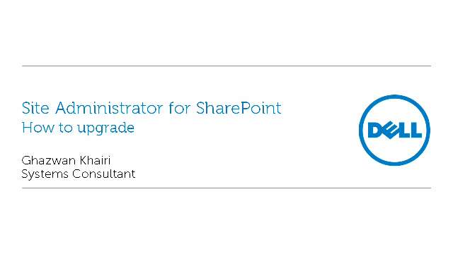 How to upgrade to Site Administrator for SharePoint 5.0