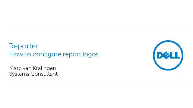 How to configure report logos with Reporter
