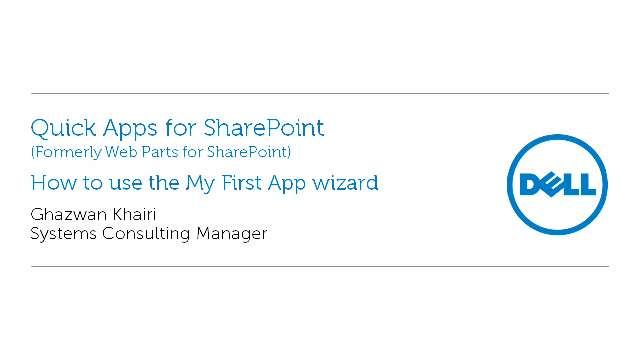 How to use the My First App wizard in Quick Apps for SharePoint
