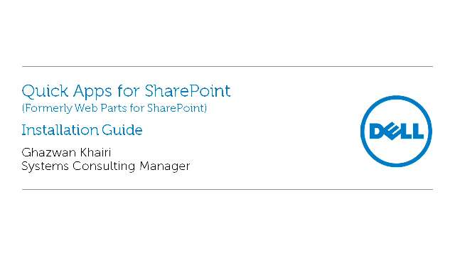 Installation guide for Quick Apps for SharePoint