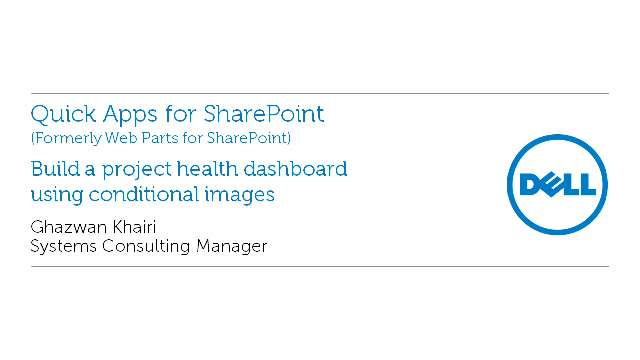 Build a project health dashboard using conditional images with Quick Apps for SharePoint