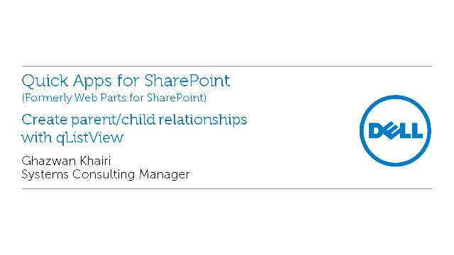 Create parent/child relationships with qListView in Quick Apps for SharePoint