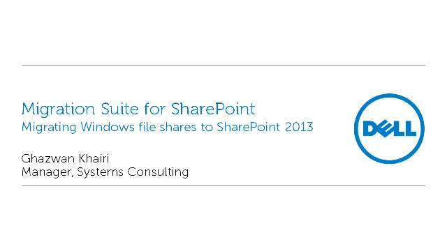 Migrating Windows file shares to SharePoint 2013 with Migration Suite for SharePoint