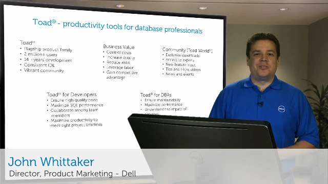Toad Productivity Tools for Database Professionals - On the Board