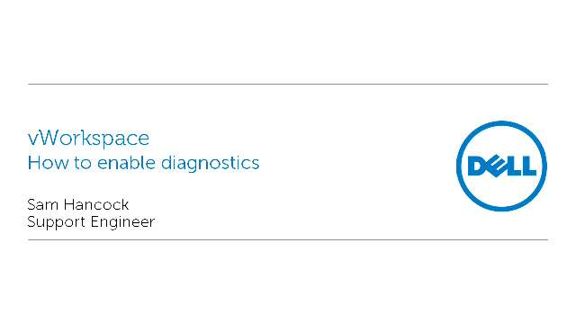 How to enable diagnostics with vWorkspace
