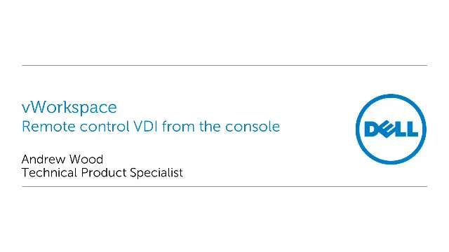 Remotely control VDIs with vWorkspace