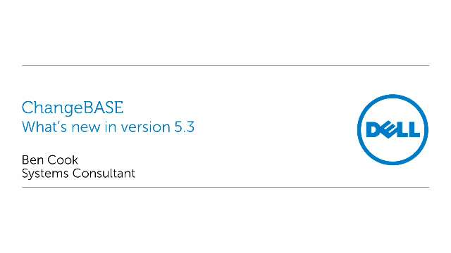 What's new in ChangeBASE version 5.3