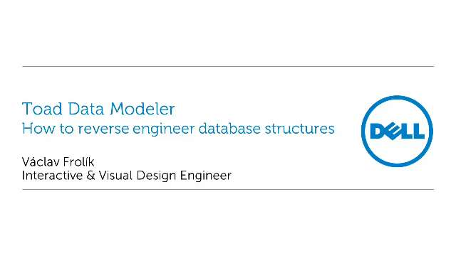 How to reverse engineer database structures with Toad Data Modeler