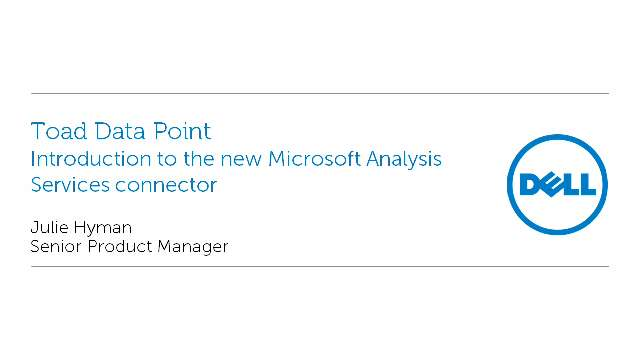 Introduction to the new Microsoft Analysis Services connector in Toad Data Point