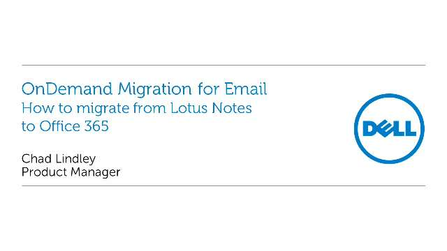 How to migrate from Lotus Notes to Office 365 with OnDemand Migration for Email