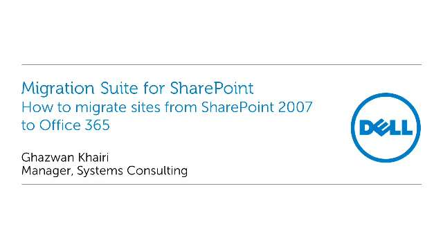 How to migrate sites from SharePoint 2007 to Office 365 with Migration Suite for SharePoint