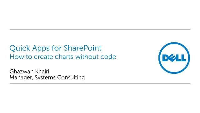 Create custom SharePoint charts with without writing custom code, with Quick Apps for SharePoint