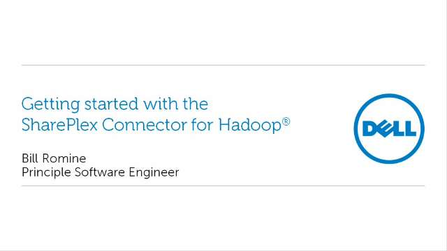 Getting started with SharePlex Connector for Hadoop