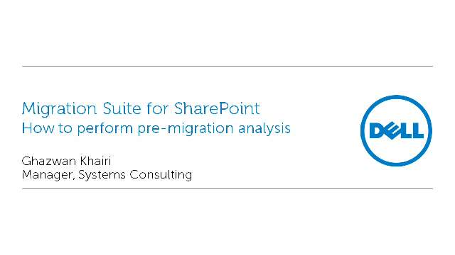 How to perform pre-migration analysis with Migration Suite for SharePoint