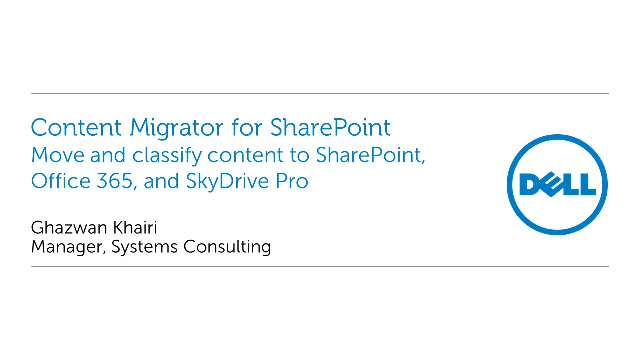 Move and classify SharePoint content with Content Migrator