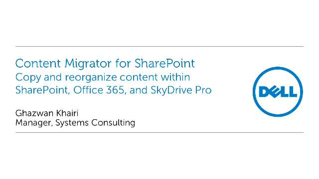 Copy and reorganize SharePoint content with Content Migrator