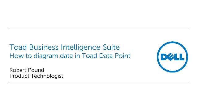 How to diagram data in Toad Data Point