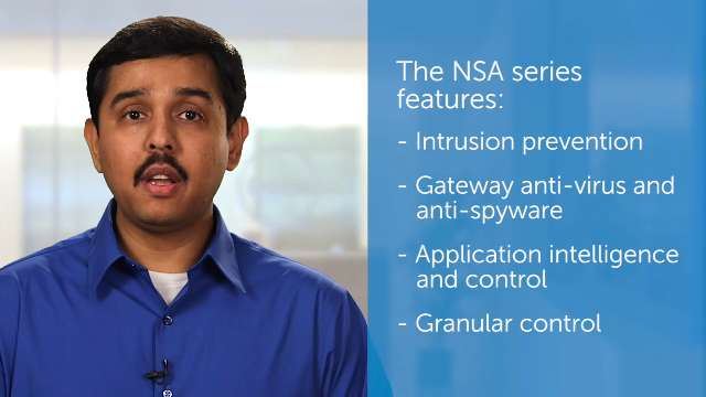 Dell SonicWALL NSA series video data sheet