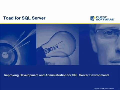 Toad for SQL Server - Introduction