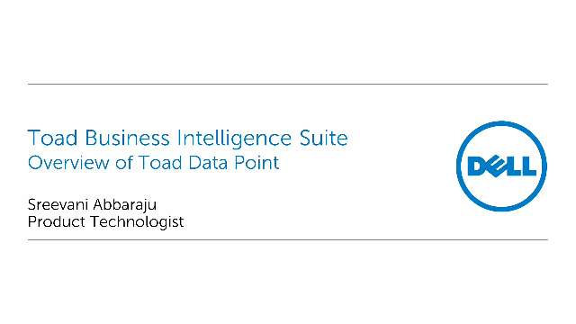 Overview of Toad Data Point