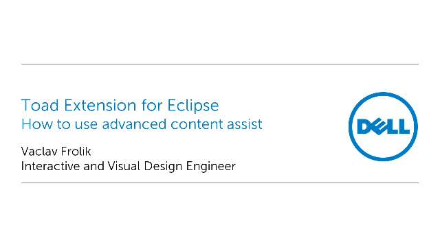How to use advanced content assist in Toad Extension for Eclipse