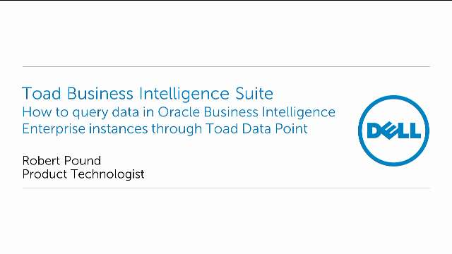 How to query data in Oracle Business Intelligence Enterprise through Toad Data Point