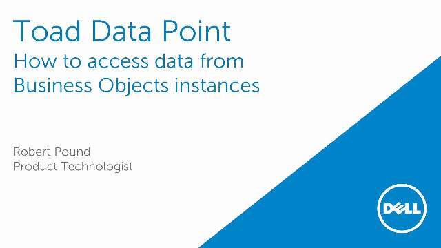 How to access data from Business Objects instances using Toad Data Point