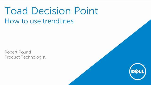 How to use trendlines in Toad Decision Point