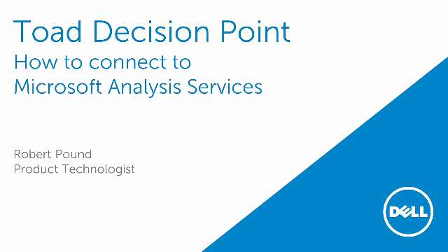 How to connect to Microsoft Analysis Services in Toad Decision Point