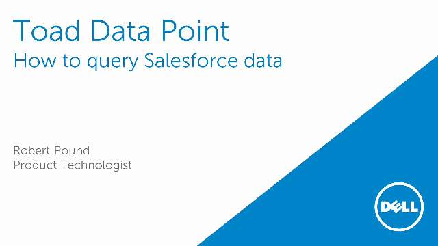 How to query Salesforce data within Toad Data Point