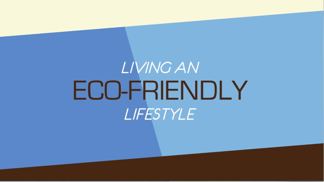 One Cool Thing (Living An Eco-Friendly Lifestyle)