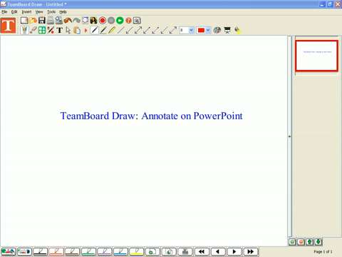 PC - TeamBoard Draw: Annotate on PowerPoint