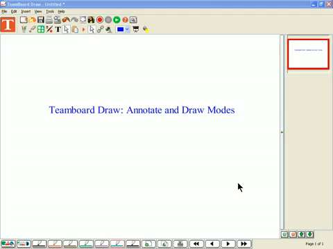 PC - TeamBoard Draw: Annotate and Draw Modes