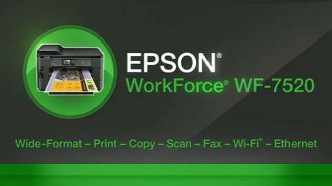EPSON WorkForce 7520 Wide-Format Printer For Business