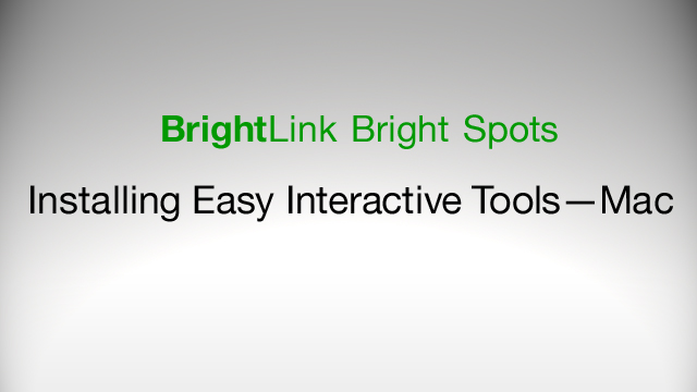 How to Download and Install Easy Interactive Tools for BrightLink 425Wi, 430i, 435Wi, 450Wi, 455Wi, 475Wi, 480i, 485Wi - Mac